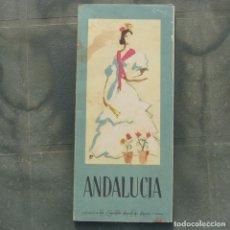 Folletos de turismo: ANDALUCIA , GUIA PLANO TURISTICO, AÑOS 50. Lote 280592108