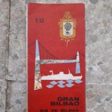 Folletos de turismo: PLANO DE BILBAO ESCALA 1:6000 FIRESTONE HISPANIA. Lote 280726558