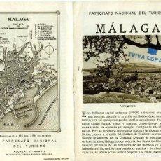 Folletos de turismo: FOLLETO DE MALAGA EDITADO POR EL PATRONATO NACIONAL DE TURISMO-VER FOTOS ADICIONALES .. Lote 281975138