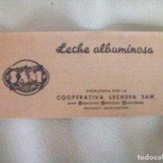 Folletos de turismo: COOPERATIVA LECHERA; ALBUMINOSA; FOLLETO. Lote 284031988