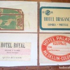Folhetos de turismo: LOTE ETOQUETAS DE HOTEL ANTIGUAS DE ESPAÑA Y OTROS PAISES EN TOTAL HAY 10 ETIQUETAS. Lote 286355103