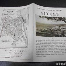 Folhetos de turismo: SITGES BARCELONA FOLLETO DEL PATRONATO NACIONAL DE TURISMO CON PLANO. Lote 286845573