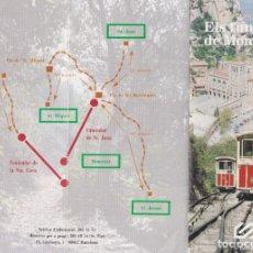 Folhetos de turismo: TRÍPTIC ELS FUNICULARS DE MONTSERRAT – FERROCARRILS DE LA GENERALITAT. Lote 286902188