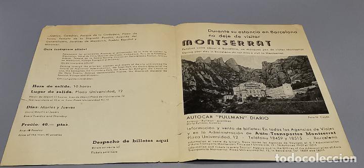 Folletos de turismo: FOLLETO CIRCUITO TURISTICO DE BARCELONA EN AUTOCAR - AÑOS 50 - GRAF. LEVANTE - - Foto 4 - 287948273