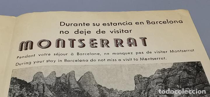 Folletos de turismo: FOLLETO CIRCUITO TURISTICO DE BARCELONA EN AUTOCAR - AÑOS 50 - GRAF. LEVANTE - - Foto 2 - 287948273