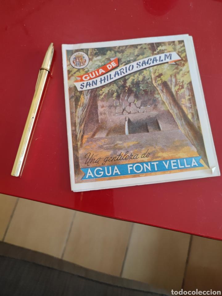 GUÍA DE SANT HILARIO , AGUA FONTVELLA , DESPLEGABLE , REF 140 (Coleccionismo - Folletos de Turismo)
