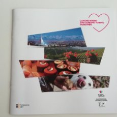 Folletos de turismo: FOLLETO LANGHE ROERO AND TURISMO TORINO TOGETHER - ENOLOGÍA ENOTURISMO PIAMONTE ITALIA. Lote 288123933