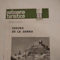 Folletos de turismo: SEGURA DE LA SIERRA. NOTICIARIO TURÍSTICO. SUPLEMENTO NÚMERO 273 1969.. Lote 288222418