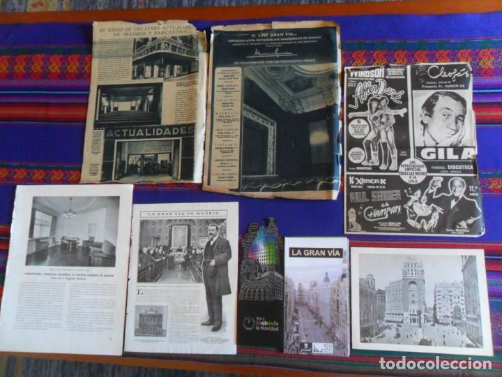 DOSSIER GRAN VÍA DE MADRID ORDEN DE CONSTRUCCIÓN 1910 INAUGURACIÓN CINE CAPITOL FOTO CALLAO PLANO... (Coleccionismo - Folletos de Turismo)