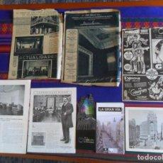 Folletos de turismo: DOSSIER GRAN VÍA DE MADRID ORDEN DE CONSTRUCCIÓN 1910 INAUGURACIÓN CINE CAPITOL FOTO CALLAO PLANO.... Lote 288320623