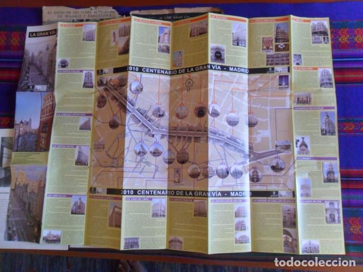 Folletos de turismo: DOSSIER GRAN VÍA DE MADRID ORDEN DE CONSTRUCCIÓN 1910 INAUGURACIÓN CINE CAPITOL FOTO CALLAO PLANO... - Foto 3 - 288320623