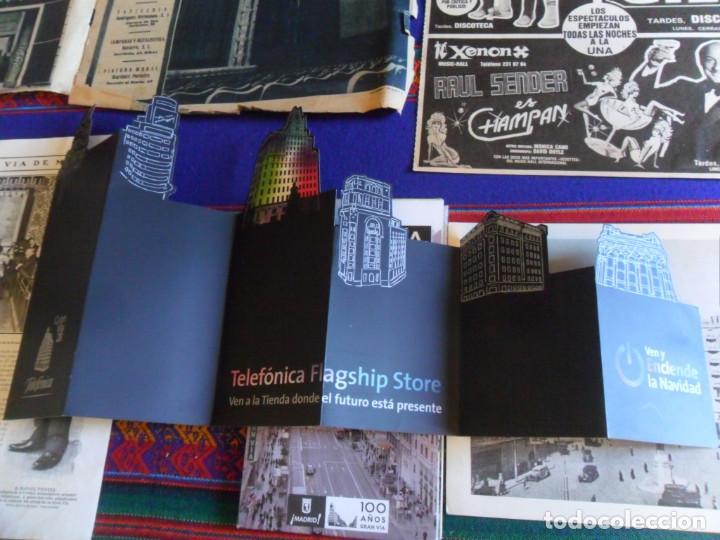 Folletos de turismo: DOSSIER GRAN VÍA DE MADRID ORDEN DE CONSTRUCCIÓN 1910 INAUGURACIÓN CINE CAPITOL FOTO CALLAO PLANO... - Foto 5 - 288320623