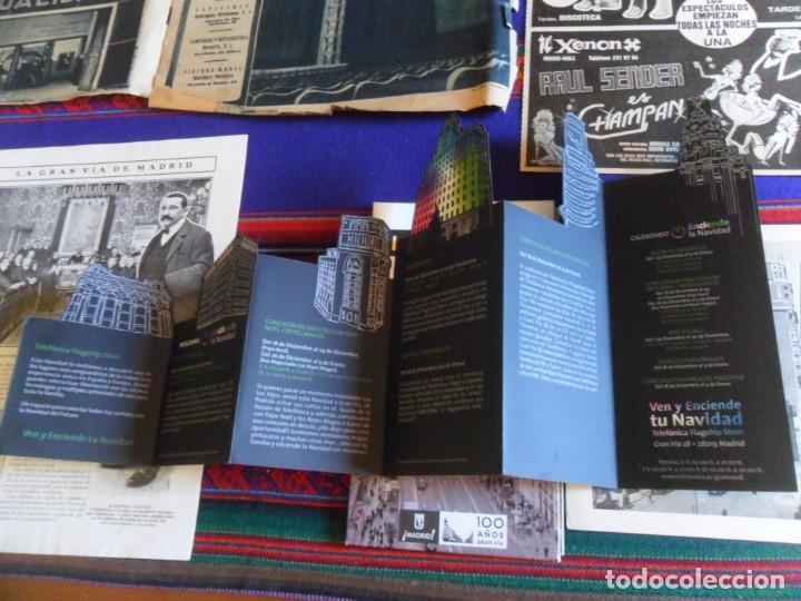 Folletos de turismo: DOSSIER GRAN VÍA DE MADRID ORDEN DE CONSTRUCCIÓN 1910 INAUGURACIÓN CINE CAPITOL FOTO CALLAO PLANO... - Foto 6 - 288320623