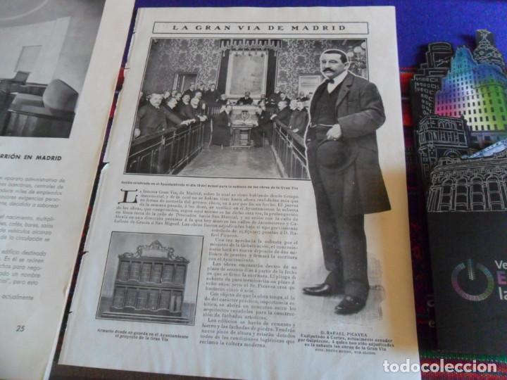 Folletos de turismo: DOSSIER GRAN VÍA DE MADRID ORDEN DE CONSTRUCCIÓN 1910 INAUGURACIÓN CINE CAPITOL FOTO CALLAO PLANO... - Foto 7 - 288320623