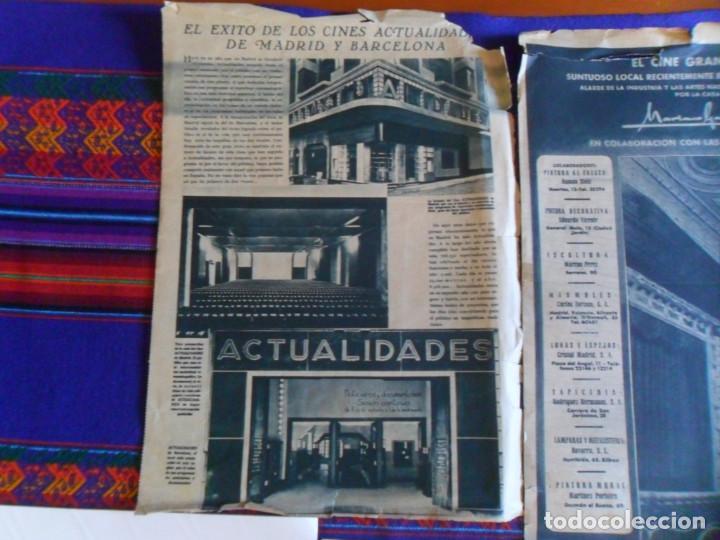 Folletos de turismo: DOSSIER GRAN VÍA DE MADRID ORDEN DE CONSTRUCCIÓN 1910 INAUGURACIÓN CINE CAPITOL FOTO CALLAO PLANO... - Foto 10 - 288320623
