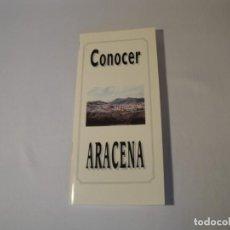 Folletos de turismo: FOLLETO: CONOCER ARACENA (HUELVA). XII JORNADAS DEL PATRIMONIO DE LA SIERRA ARACENA. AÑO 1997. NUEVO. Lote 288378608