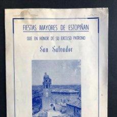 Foglietti di turismo: PROGRAMA FIESTAS DE SAN SALVADOR AÑO 1965 / ESTOPIÑAN / HUESCA. Lote 289818498