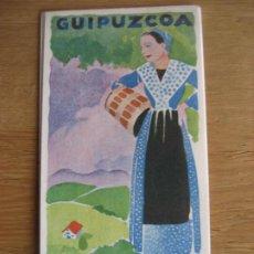 Folletos de turismo: GUIPUZCOA. AÑOS 30. DESPLEGABLE DE 59 X 40 CMS. CON MAPA. EN CASTELLANO. Lote 294551078
