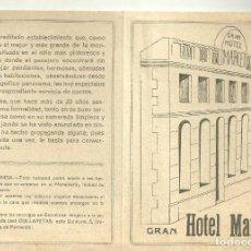 Foglietti di turismo: 4233.-MONTSERRAT-GRAN HOTEL MARCET-EL MAS GRANDE Y BIEN SITUADO DE LA MONTAÑA DE MONTSERRAT. Lote 295417048