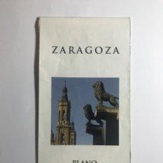 Folletos de turismo: PLANO TURISTICO DE ZARAGOZA. Lote 296065288