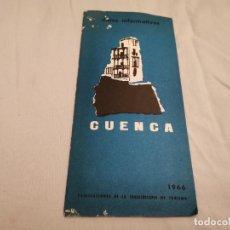 Folletos de turismo: DATOS INFORMATIVOS CUENCA 1966 MIRAR FOTOS. Lote 297104858