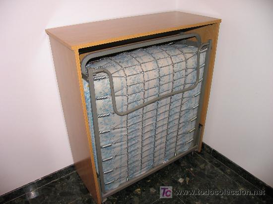 Mueble auxiliar cama plegable 80 cm comprar en todocoleccion 7811702 - Muebles con cama plegable ...