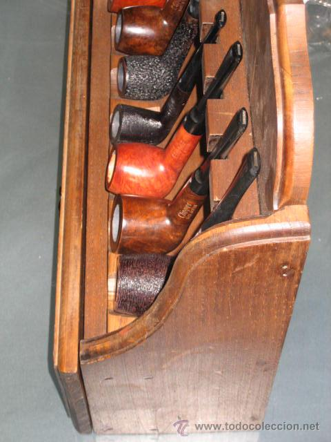 Mueble peque o para pipas madera incluye 7 pi comprar for Mueble pipas