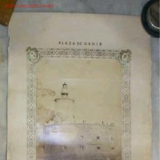Fotografía antigua: FOTOGRAFIA DEL CUERPO DE INGENIEROS Á S.S.M.M. EN EL FUERTE DE SAN SEBASTIAN,CADIZ.SIGLO XIX,. Lote 14913273