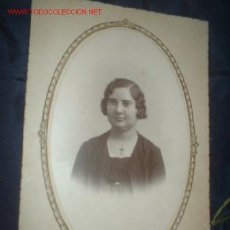 Fotografía antigua: ANTIGUA FOTOGRAFIA POSTAL RETRATO MUJER. AÓ 1910/20.. Lote 306091