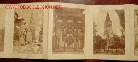 CORDOBA: 8 ALBUMINAS EN ÁLBUM ACORDEÓN. (Fotografía Antigua - Albúmina)