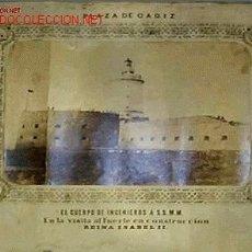 Fotografía antigua: FOTOGRAFIA DEL CUERPO DE INGENIEROS Á S.S.M.M. EN EL FUERTE DE SAN SEBASTIAN,CADIZ.SIGLO XIX,. Lote 14913272