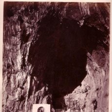 Fotografía antigua: AMALFI. GROTTA DI S.CRISTOLANO. FOTOGRAFÍA: GIORGIO SOMMER, 1870'S APROX.. Lote 11081454