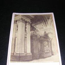 Fotografía antigua: J.LAURENT ET CIA, ZARAGOZA 1758, VISTA INTERIOR DEL TRASALTAR DE NTRA, SEÑORA DEL PILAR. Lote 5156948