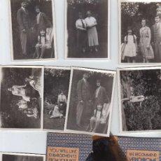Fotografía antigua: FAMILIA EN EL JARDIN-AÑO 1934. Lote 27057962