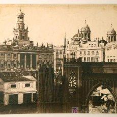 Fotografía antigua: CÁDIZ. ARCO DELANTE DE LAS CASAS CONSISTORIALES. AÑO 1862. CHARLES CLIFFORD.. Lote 12719703