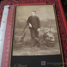 Fotografía antigua: FOTO ALBÚMINA DE GABINETE, DE J PEINADO , GIJÓN. Lote 17697850