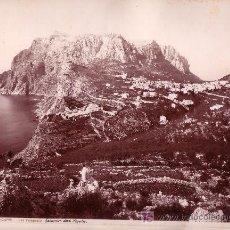 Fotografía antigua: CAPRI. ITALIA. FOTOGRAFÍA DE GIORGIO SOMMER, 1880 APROX.. Lote 12973918