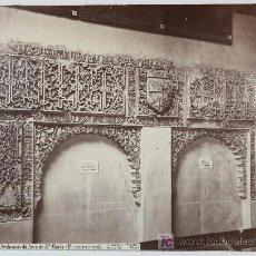 Fotografía antigua: BURGOS. ARABESCOS DEL ARCO DE SANTA MARÍA. (MUSEO PROVINCIAL) FOTOGRAFÍA DE LAURENT. 1875 APROX.. Lote 15419008