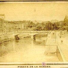 Fotografía antigua: FOTO PUENTE DE LA MERCED , BILBAO , FOTOGRAFO S. ABAITUA . F337. Lote 26706995