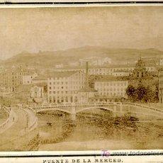 Fotografía antigua: FOTO PUENTE DE LA MERCED , BILBAO , FOTOGRAFO S. ABAITUA . F338. Lote 27560450