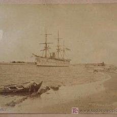 Fotografía antigua: ENTRADA AL CANAL DE SUEZ. PORT SAID. 1885 APROX.. Lote 6523773