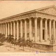 Fotografía antigua: IGLESIA DE LA MAGDALENA. PARIS. CIRCA 1880. Lote 15070354