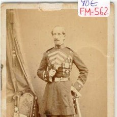 Fotografía antigua: (FM-562)FOTOGRAFIA MILITAR TENIENTE CORONEL DE INFANTERIA UNIFORME 1854 SIGLO XIX (10 X 6 CM.). Lote 7611971