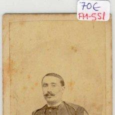 Fotografía antigua: (FM-551)FOTOGRAFIA MILITAR TENIENTE EPOCA I REPUBLICA SIGLO XIX (10 X 6 CM.). Lote 7616187