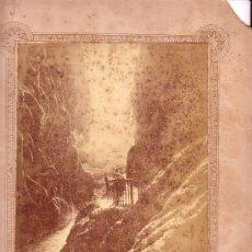 Fotografía antigua: MONASTERIO DE PIEDRA, ZARAGOZA. LA COLA DE CABALLO. FOTO DEL ESTUDIO NAPOLEÓN, MADRID.. Lote 15496145