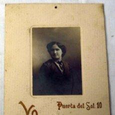 Fotografía antigua: FOTOGRAFÍA RETRATO DE DAMA POSANDO ESTUDIO YO DE MADRID PP S XX. Lote 8011306