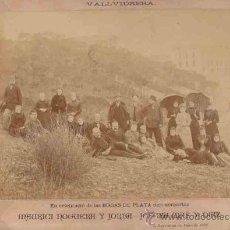 Fotografía antigua: FOTOGRAFIA DE VALLVIDRERA, BODAS DE PLATA M. NOGUERA Y J. MAS AÑO 1892 230X330. Lote 8274900