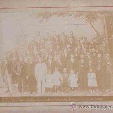 Fotografía antigua: FOTOGRAFIA SOCIEDAD CORAL DE SAN JOAN DE HORTA, LA VIOLETA, AÑO 1906. Lote 8275051