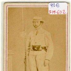 Fotografía antigua: (FM-602)FOTOGRAFIA MILITAR SOLDADO ESPAÑOL EN CUBA SIGLO XIX (10,5 X 6 CM.). Lote 8438066