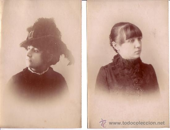 Fotografía antigua: 3 retratos atribuidos a A: Esplugas. barcelona. albúminas sin montar. 13 x 20 cm. - Foto 2 - 15754932